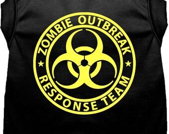 Zombie Outbreak Response Team Dog Shirt, Vest