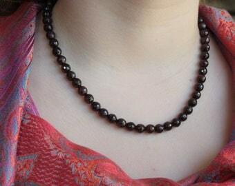Red Garnet necklace .
