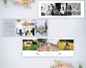 3 Pack Photography Facebook Timeline Cover Template | .PSD | Photoshop Template