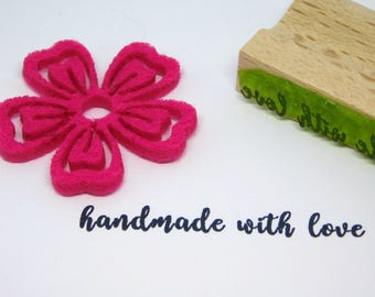 HANDMADE WITH LOVE stamp