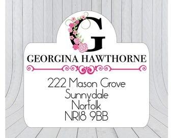 24 x Return address stickers, Address labels, Self adhesive address labels, Address Stickers, Custom address stickers 138