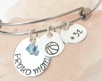 Basketball Mom Jewelry, Sports Mom Gift, Basketball Mom Gift, Basketball Mom Bracelet, Gifts for Basketball Mom, Sports Mom, Basketball Mom