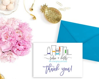 Rodan + Fields Thank you note card - Independent Consultant Resources - Greeting Cards