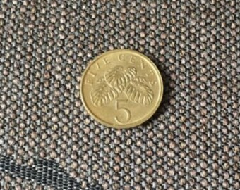 1985 Singapore 5 Cents coin
