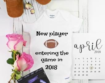 Football Onesie - Baby Announcements