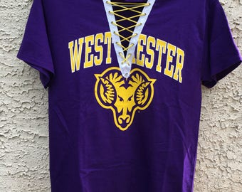 West Chester University lace up tee