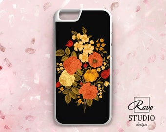 Flowers phone case iPhone case floral Rose iPhone 6s case iPhone 7 plus floral Rose iPhone x case Name iPhone 8 case iPhone 5 rubber case