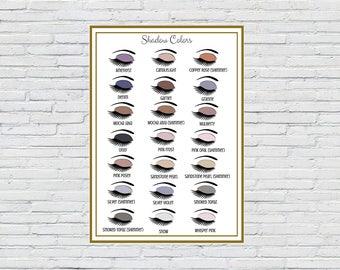 ShadowSense Color Chart | Printable | Instant Download | SeneGence Marketing Material | Vendor Shows | LipSense Colors | Shadowsense display