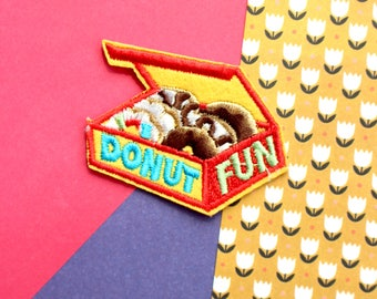 Box of Donuts Iron On Patches