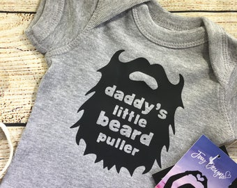 baby beard shirts, beard shirt, funny baby shirts, beard baby clothes, gift from baby, daddys girl, daddys little girl, daddys little man,