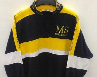 CLEARANCE SALE /// 20% Vintage Miki Sports Sweater Sweatshirt