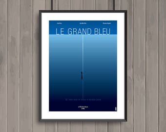 LE GRAND BLEU, affiche (re)visitée