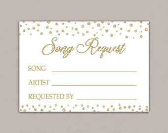 SONG REQUEST CARD For Wedding Song Request Card Rsvp With