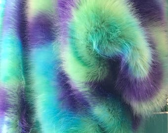 "Disney Multi Color Shaggy Long Pile Faux Fur Fabric By The Yard 60"" Width"