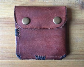 Upcycled large leather wallet