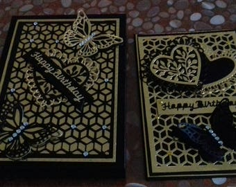 Birthday card and box