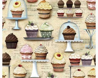 Novelty Cotton Fabric Cupcakery Quilting