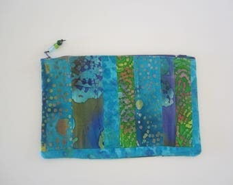 colorful patchwork pouch