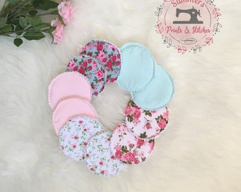 Breastfeeding pads, cloth nursing pad, washable breast pads, absorbant cloth pads, lactation pads, reusable nursing pads, breast feeding pad