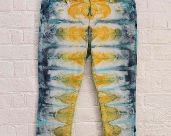 25% OFF ENTIRE SHOP Ladies Size xxl/18 Regular Straight Leg Jeans - Beach - Festival - Ready To Ship - Tie Dyed - 100 Percent Cotton - Free