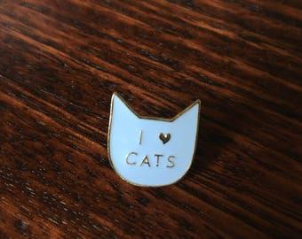 I heart Cats - Enamel badge
