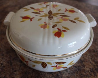 "Jewel Tea Autumn Leaf 8 1/2"" Tootsie 2 Qt. Covered Casserole"