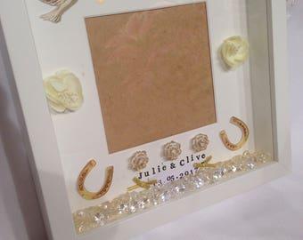 Personalised wedding photo box frame