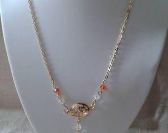 "necklace ""Golden and orange wedding"""
