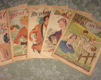 A set of 5 magazines my 1951 year book