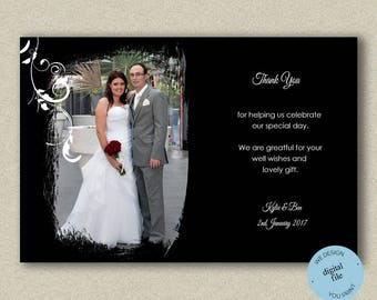 Wedding Thank You Photo Cards With