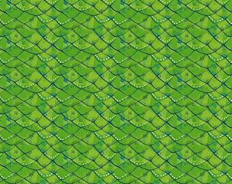 Mermaid Days - Scalloped Green by Cori Dantini for Blend Fabrics - 1 yd