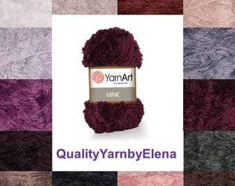 Mink YARN ART -  100% Polyamide yarn- 50g 75m (82 yards) turkish yarn