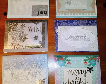 Silvery Blue Christmas Card Pack