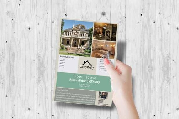 Makler Marketing Vermarktung Flyer Makler offen Haus