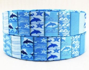 Blue Ribbon wholesale GRAIN with dolphins 25 mm