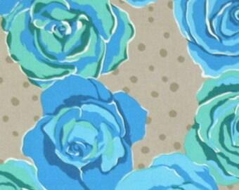 tissu patchwork FREE SPIRIT OLIVE ROSE TINA GIVENS