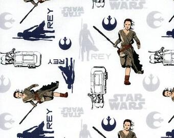 Star wars REY white fabric