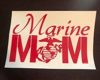 Marine Mom Decal, Marine sticker, mom, USMC, marines, us marines sticker, yeti, tumbler, decal, sticker, armed forces