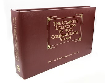 Stamp Book Collection, The Complete Collection Of 1930s Stamps, American History Stamps, Commemorative Stamps, Antique Usa Postage Stamps