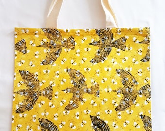 Bee-Eater and Bees- Lino Print Tote