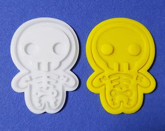 Halloween Skelton Cookie Cutter and Stamp