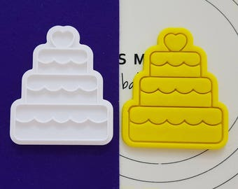 Wedding Cake (Small) Cookie Cutter and Stamp