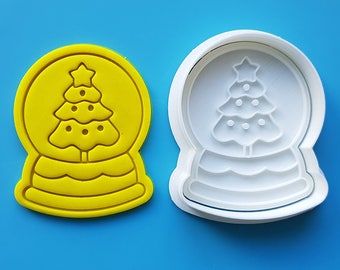 Snow Globe - Christmas Tree Cookie Cutter and Stamp
