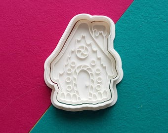 Gingerbread House Cookie Cutter and Stamp