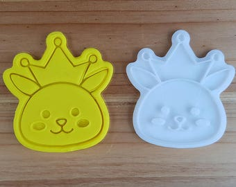 Crowned Bunny Cookie Cutter and Stamp