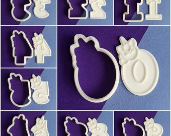 Unicorn Numbers Cookie Cutter and Stamp