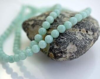 Gemstone Bead 4mm Amazonite Bead Round Gemstone Beads Amazonite (16 inch Strand) X293