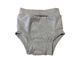 Grey Bloomers, Bummies, Diaper Cover, Toddler Bloomers, Girls Shorts, Grey Baby Shorts, Baby Girl Shorts, Baby Summer Shorts