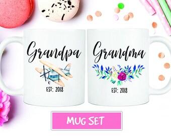 Grandparents Mug, New Grandparents, Pregnancy Reveal, Grandma, Grandpa, Future Grandparents, Pregnancy Reveal Mug, Grandparents Mug Set