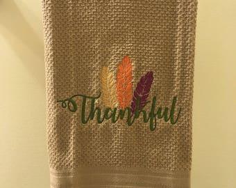 Thanksgiving Embroidered Kitchen Towel Set
